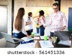 startup diversity teamwork... | Shutterstock . vector #561451336