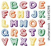 alphabet  polka dots.  original ...   Shutterstock .eps vector #56145298