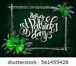 vector hand lettering saint...   Shutterstock .eps vector #561455428