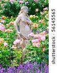 Beautiful Stone Statue In Rose...