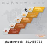 abstract business chart. 5... | Shutterstock .eps vector #561455788