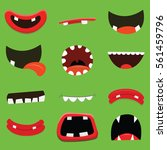 cartoon monster mouth collection   Shutterstock .eps vector #561459796