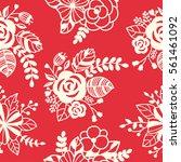 vector seamless floral pattern  ...   Shutterstock .eps vector #561461092