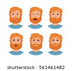 beard men facial expression... | Shutterstock .eps vector #561461482