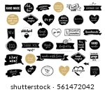 hand drawn vector   handmade ... | Shutterstock .eps vector #561472042