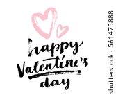 happy valentine's day modern... | Shutterstock .eps vector #561475888