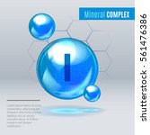 mineral i iodine  iodum blue... | Shutterstock .eps vector #561476386