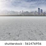 ground roads and the city... | Shutterstock . vector #561476956
