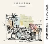 maehongson  thailand  southeast ... | Shutterstock .eps vector #561478036