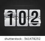 white mechanical scoreboard.... | Shutterstock .eps vector #561478252