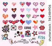 bright valentine s day... | Shutterstock .eps vector #561484906