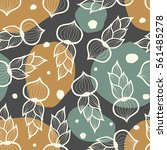 seamless pattern with bow.... | Shutterstock .eps vector #561485278