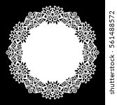 lace round paper doily  lacy... | Shutterstock .eps vector #561488572