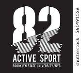brooklyn sport typography  tee... | Shutterstock .eps vector #561491536