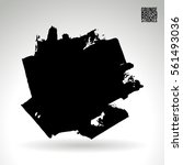 brush stroke and texture.... | Shutterstock .eps vector #561493036