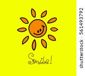 Smile. Happy Smiling Sun With...
