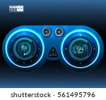 car hud dashboard. abstract...