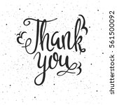 thank you lettering. hand drawn ...   Shutterstock .eps vector #561500092