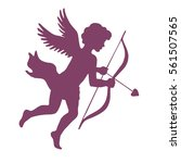 cupid with bow and arrow ... | Shutterstock .eps vector #561507565