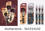 realistic makeup brush set... | Shutterstock .eps vector #561514132