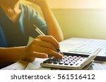 businesswoman working with...   Shutterstock . vector #561516412