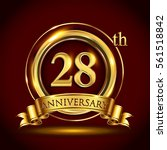 28th golden anniversary logo ... | Shutterstock .eps vector #561518842