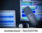 microphone in radio studio | Shutterstock . vector #561525796