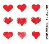 heart icon symbol set. | Shutterstock .eps vector #561528985