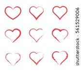 heart icon symbol set. | Shutterstock .eps vector #561529006