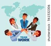 international business team in... | Shutterstock .eps vector #561532306