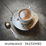 cup of tea with cookies | Shutterstock . vector #561533482