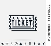 ticket icon | Shutterstock .eps vector #561540172
