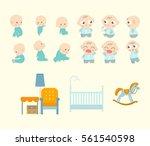 baby cute character | Shutterstock .eps vector #561540598