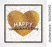 poster with heart of gold... | Shutterstock .eps vector #561541042