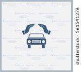 car insurance web icon. vector... | Shutterstock .eps vector #561541276