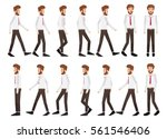 collection set of walking... | Shutterstock .eps vector #561546406