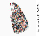 people map country sri lanka...   Shutterstock .eps vector #561548176