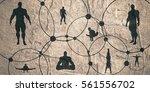 human communication background. ... | Shutterstock . vector #561556702