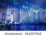 various type of financial and... | Shutterstock . vector #561557965