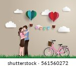 illustration of love and... | Shutterstock .eps vector #561560272