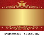 royal background with crown | Shutterstock .eps vector #561560482