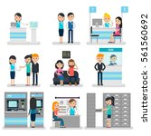 bank people flat collection... | Shutterstock .eps vector #561560692