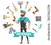repair elements round template... | Shutterstock .eps vector #561561256