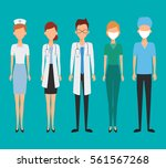 set of avatar doctor character... | Shutterstock .eps vector #561567268