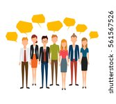 group of creative people... | Shutterstock .eps vector #561567526