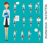 doctor occupation character... | Shutterstock .eps vector #561567556