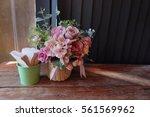pink flowers valentine | Shutterstock . vector #561569962