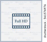full hd video icon  vector... | Shutterstock .eps vector #561576976