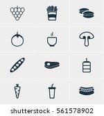 vector illustration of 12 food... | Shutterstock .eps vector #561578902