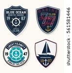 set of emblem  labels marine... | Shutterstock .eps vector #561581446